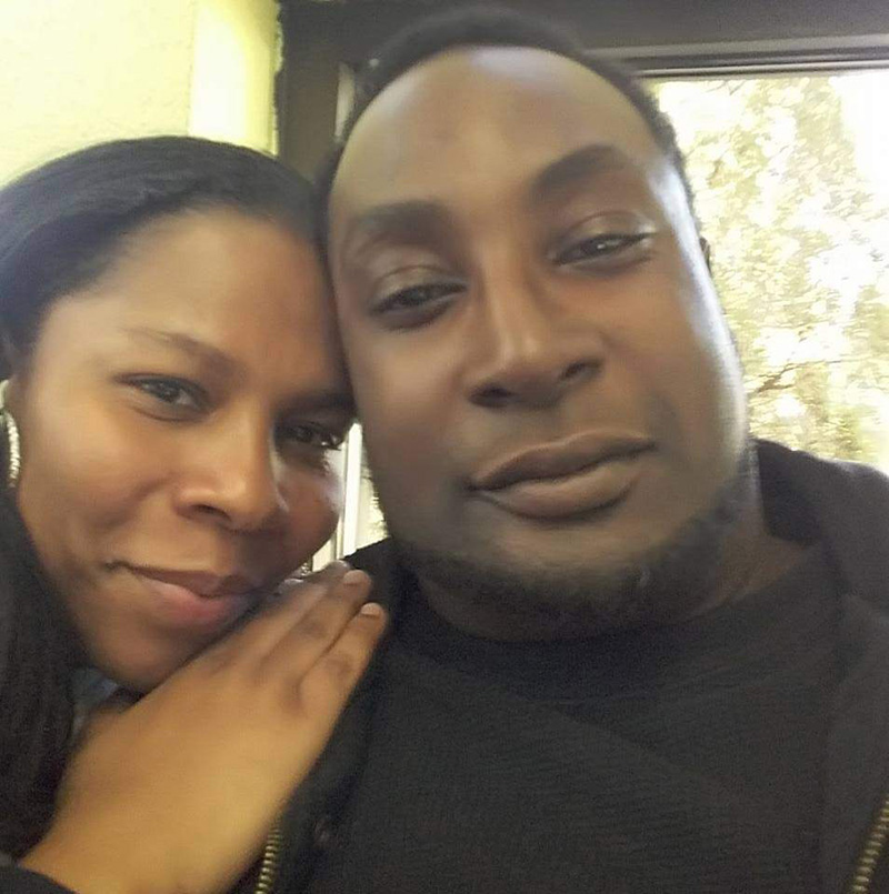 (Keith Lamont-Scott pictured with his wife)