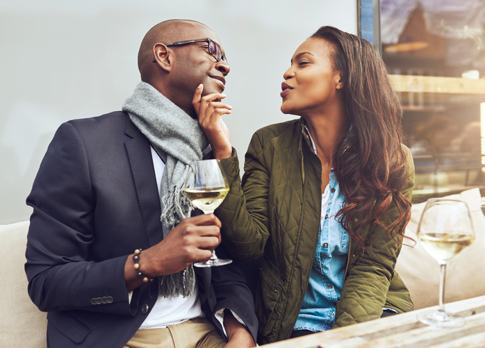 African American couple date